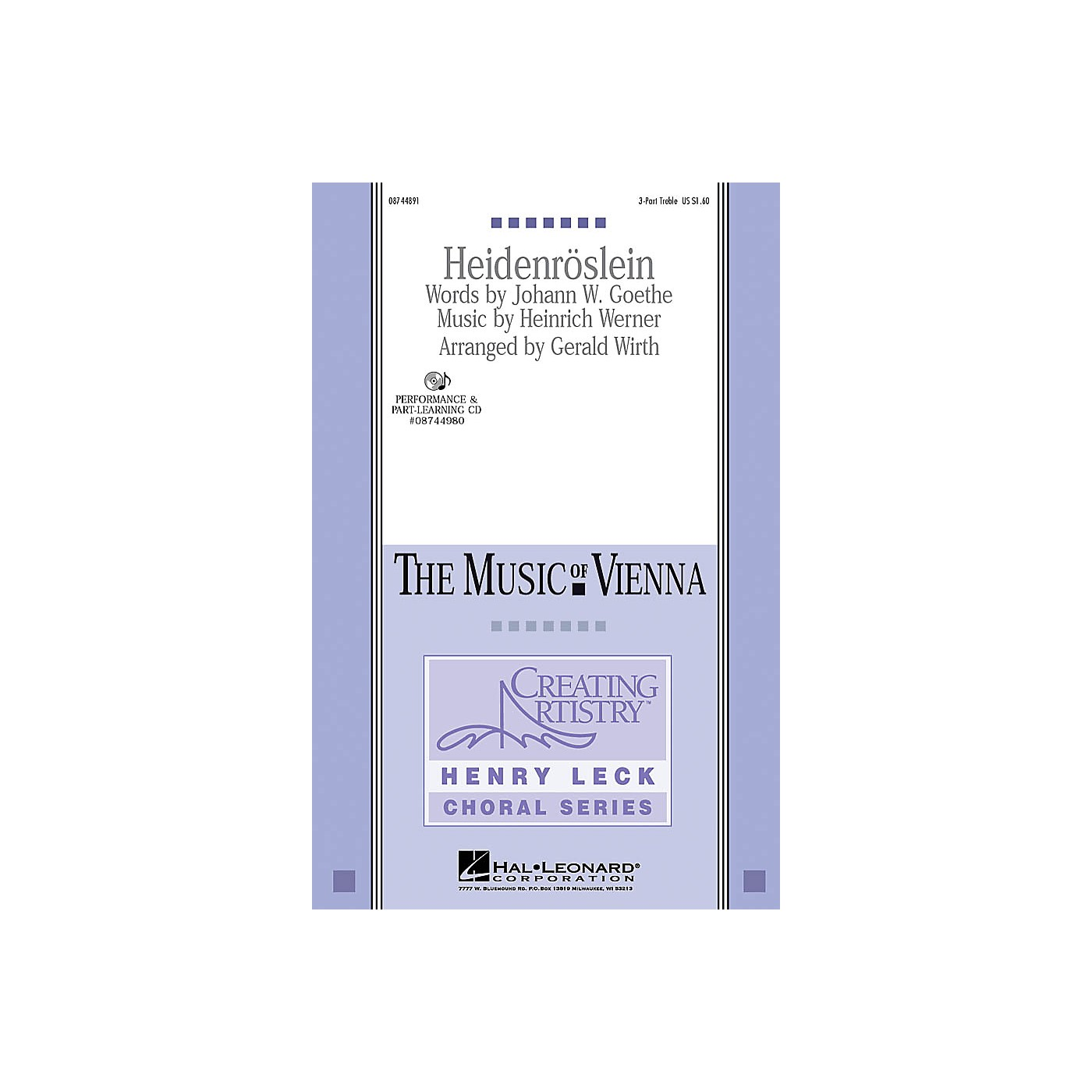 Hal Leonard Heidenroslein VoiceTrax CD Arranged by Gerald Wirth thumbnail