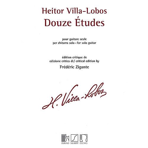 Max Eschig Heitor Villa-Lobos - 12 Études (Solo Guitar) MGB Series thumbnail
