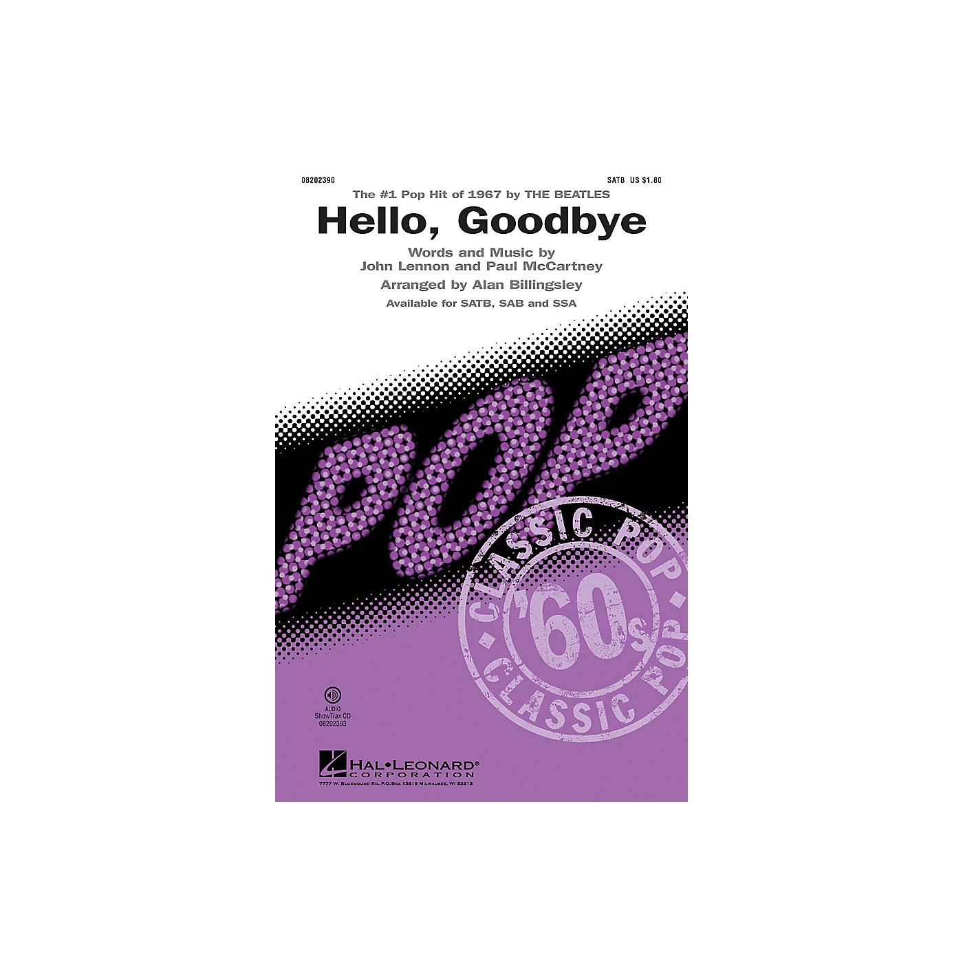 Hal Leonard Hello, Goodbye SSA by The Beatles Arranged by Alan Billingsley thumbnail