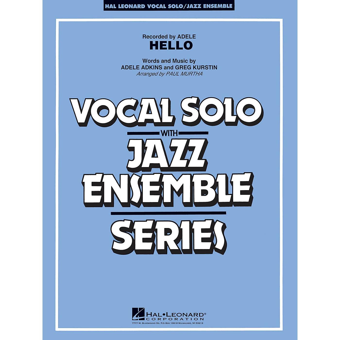 Hal Leonard Hello (Key: Fmi) Jazz Band Level 3-4 Composed by Greg Kurstin thumbnail