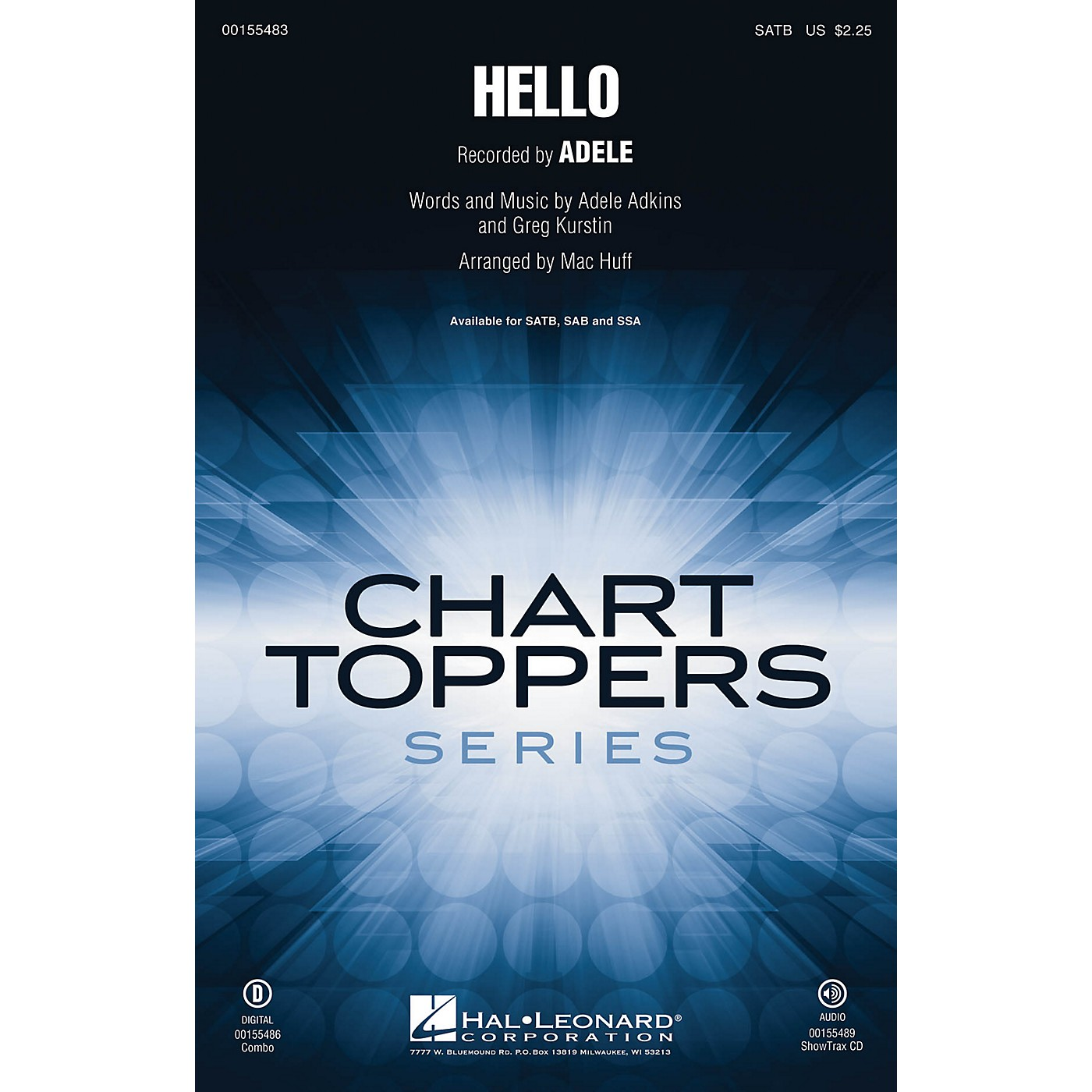 Hal Leonard Hello SATB by Adele arranged by Mac Huff thumbnail
