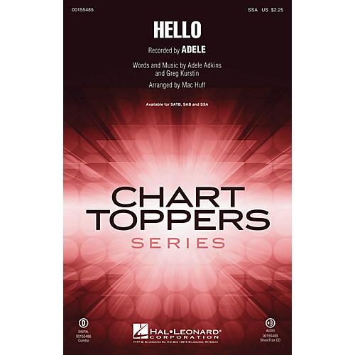 Hal Leonard Hello SSA by Adele arranged by Mac Huff thumbnail
