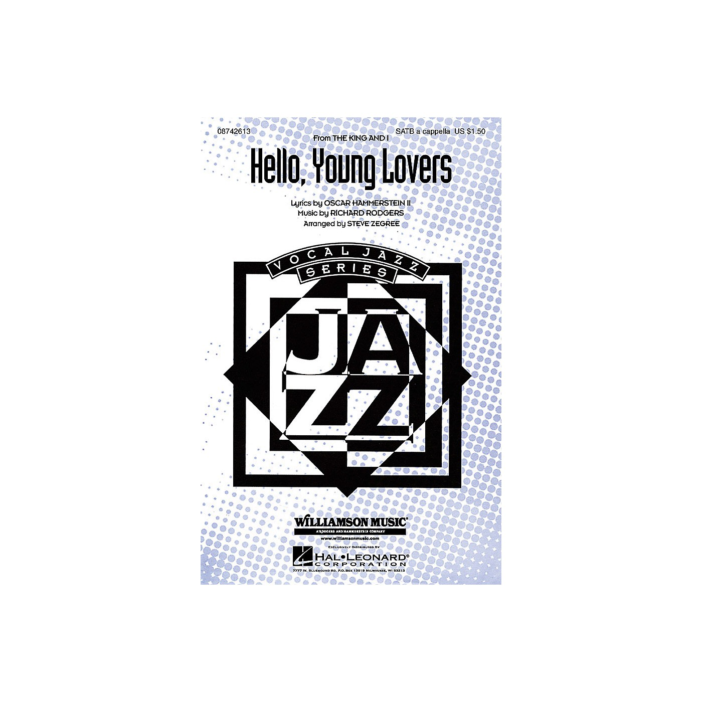 Hal Leonard Hello, Young Lovers (from The King and I) SATB a cappella arranged by Steve Zegree thumbnail