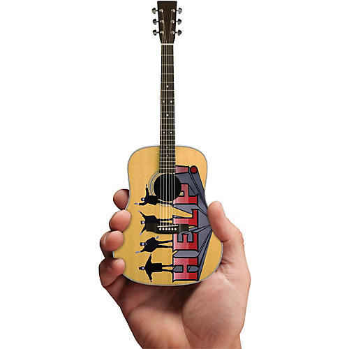 Axe Heaven Help! Fab Four Tribute Acoustic Guitar Officially Licensed Miniature Guitar Replica thumbnail
