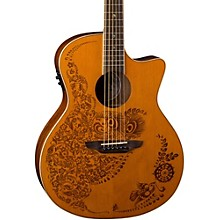 Luna Guitars Henna 0asis Cedar Acoustic-Electric Guitar