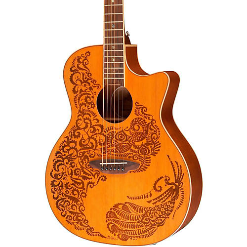 Luna Guitars Henna Paradise Cedar Series II Acoustic-Electric Guitar thumbnail
