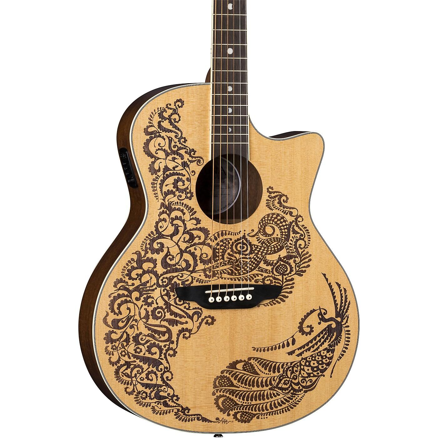 Luna Guitars Henna Paradise Select Spruce Acoustic-Electric Guitar thumbnail