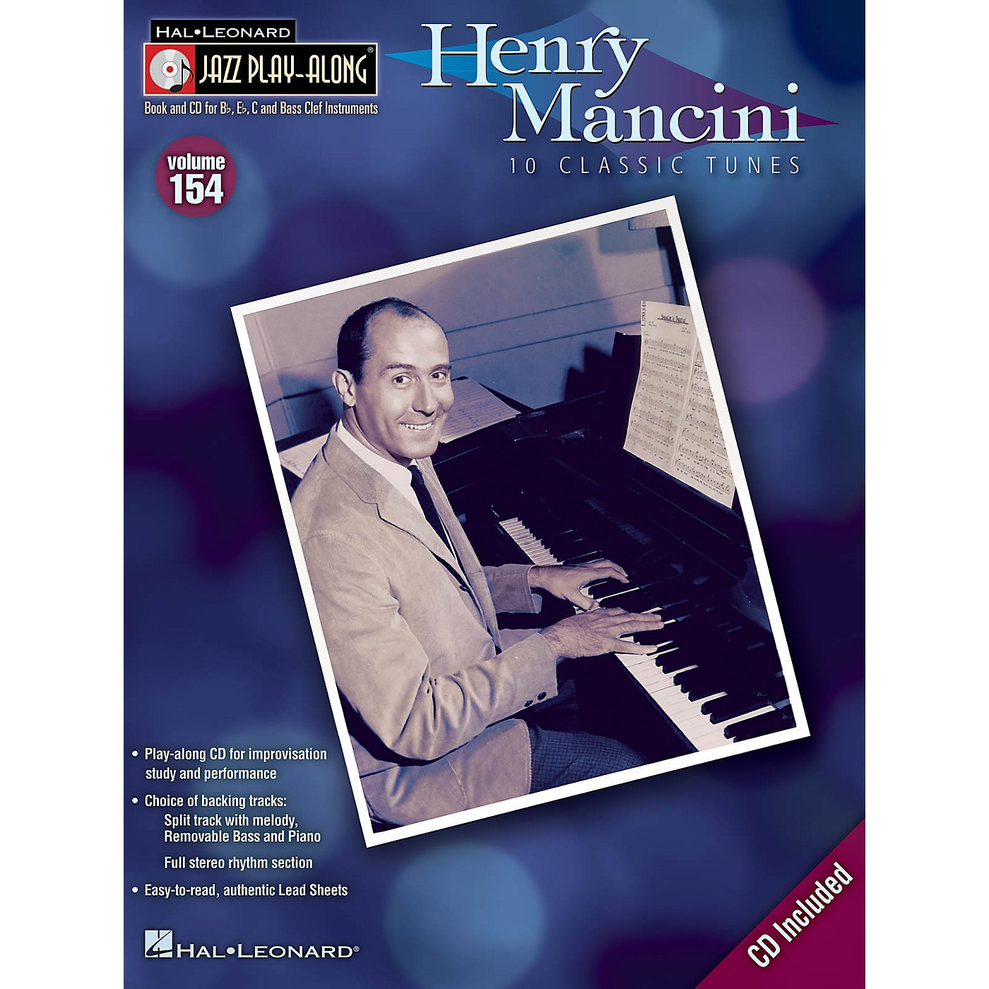 Hal Leonard Henry Mancini (Jazz Play-Along Volume 154) Jazz Play Along Series Softcover with CD thumbnail