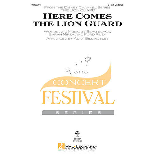 Hal Leonard Here Comes the Lion Guard 2-Part by Beau Black arranged by Alan Billingsley thumbnail