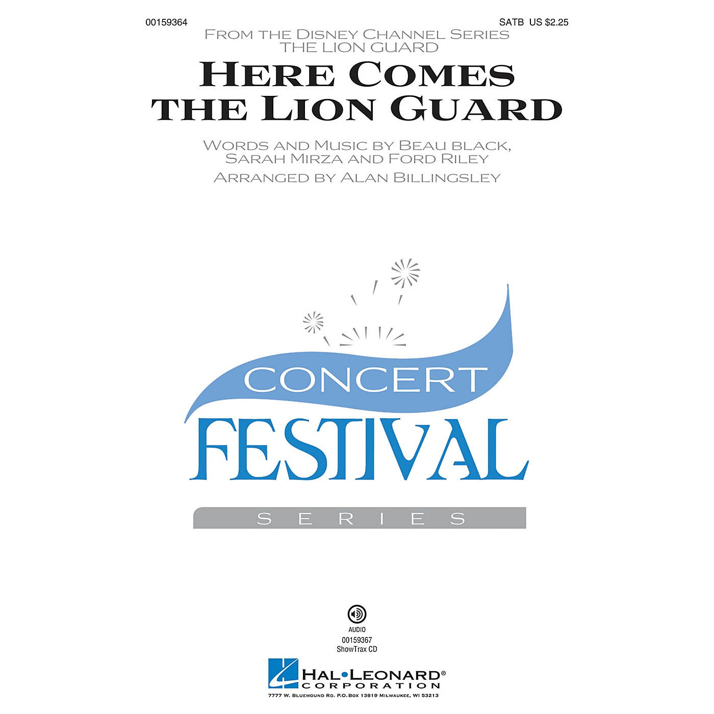 Hal Leonard Here Comes the Lion Guard SATB by Beau Black arranged by Alan Billingsley thumbnail