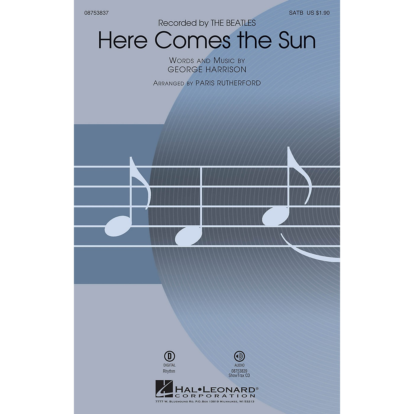 Hal Leonard Here Comes the Sun SATB by The Beatles arranged by Paris Rutherford thumbnail