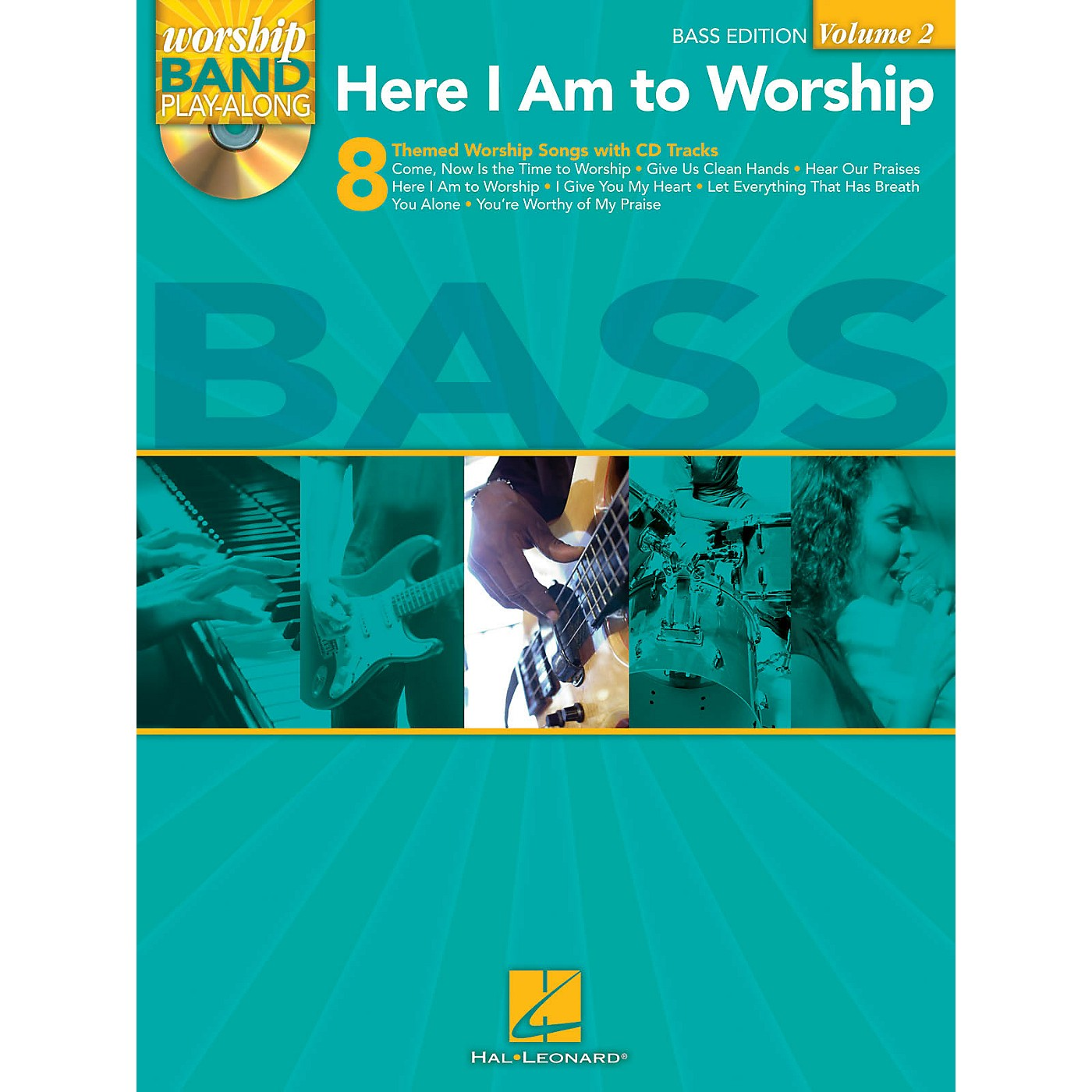 Hal Leonard Here I Am to Worship - Bass Edition Worship Band Play-Along Series Softcover with CD thumbnail