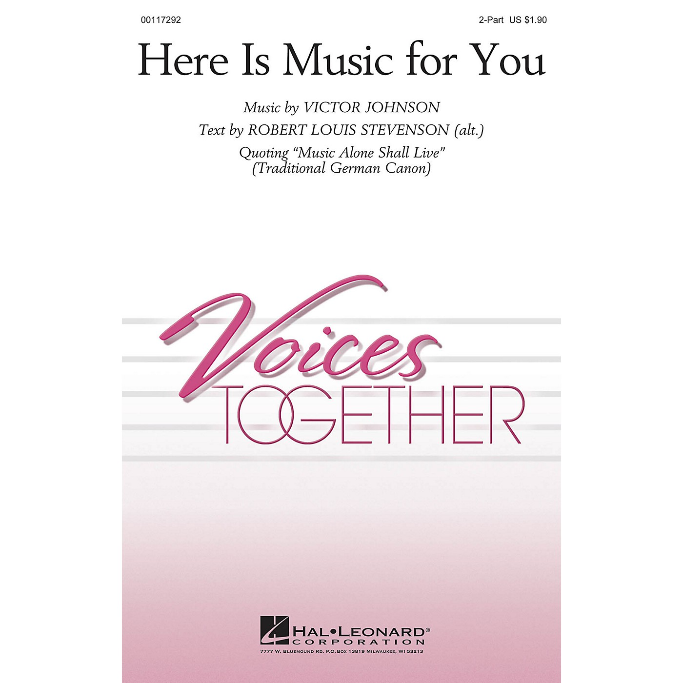 Hal Leonard Here Is Music for You 2-Part composed by Victor Johnson thumbnail