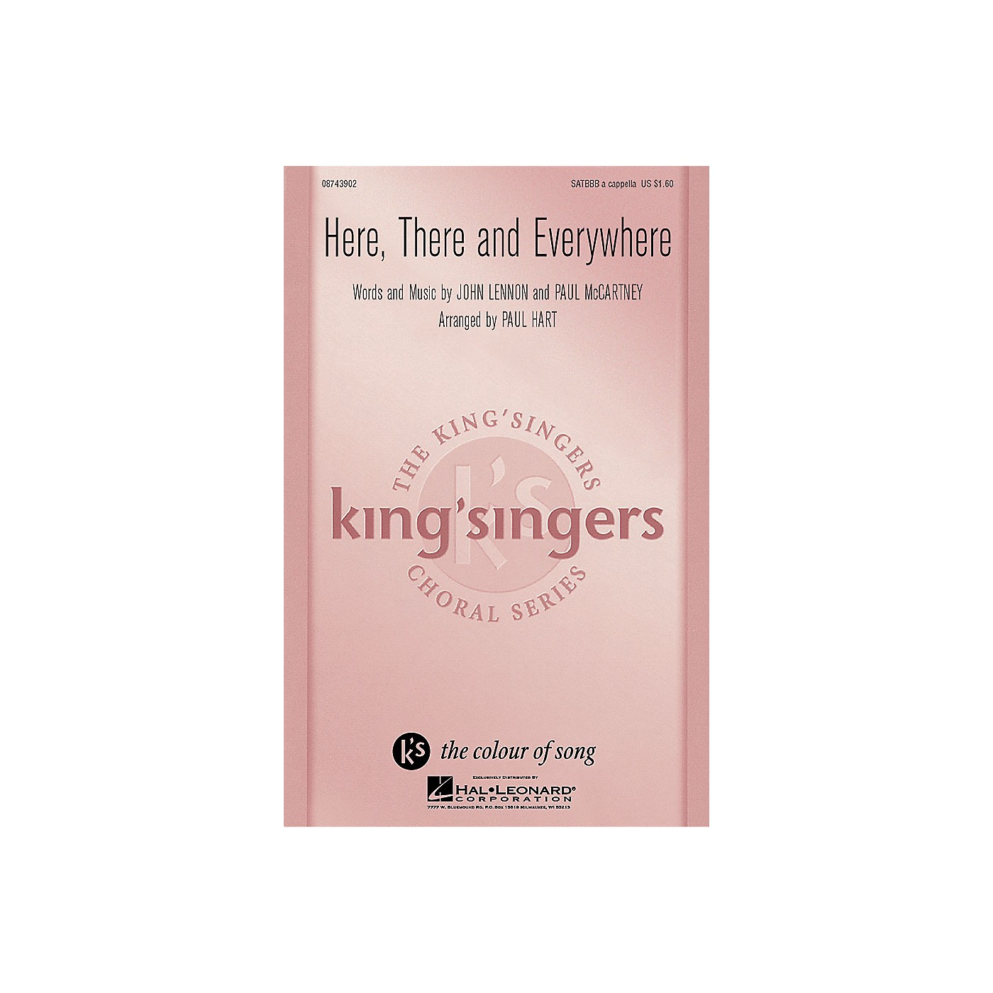 Hal Leonard Here, There And Everywhere SATBBB a cappella by The King's Singers arranged by Paul Hart thumbnail