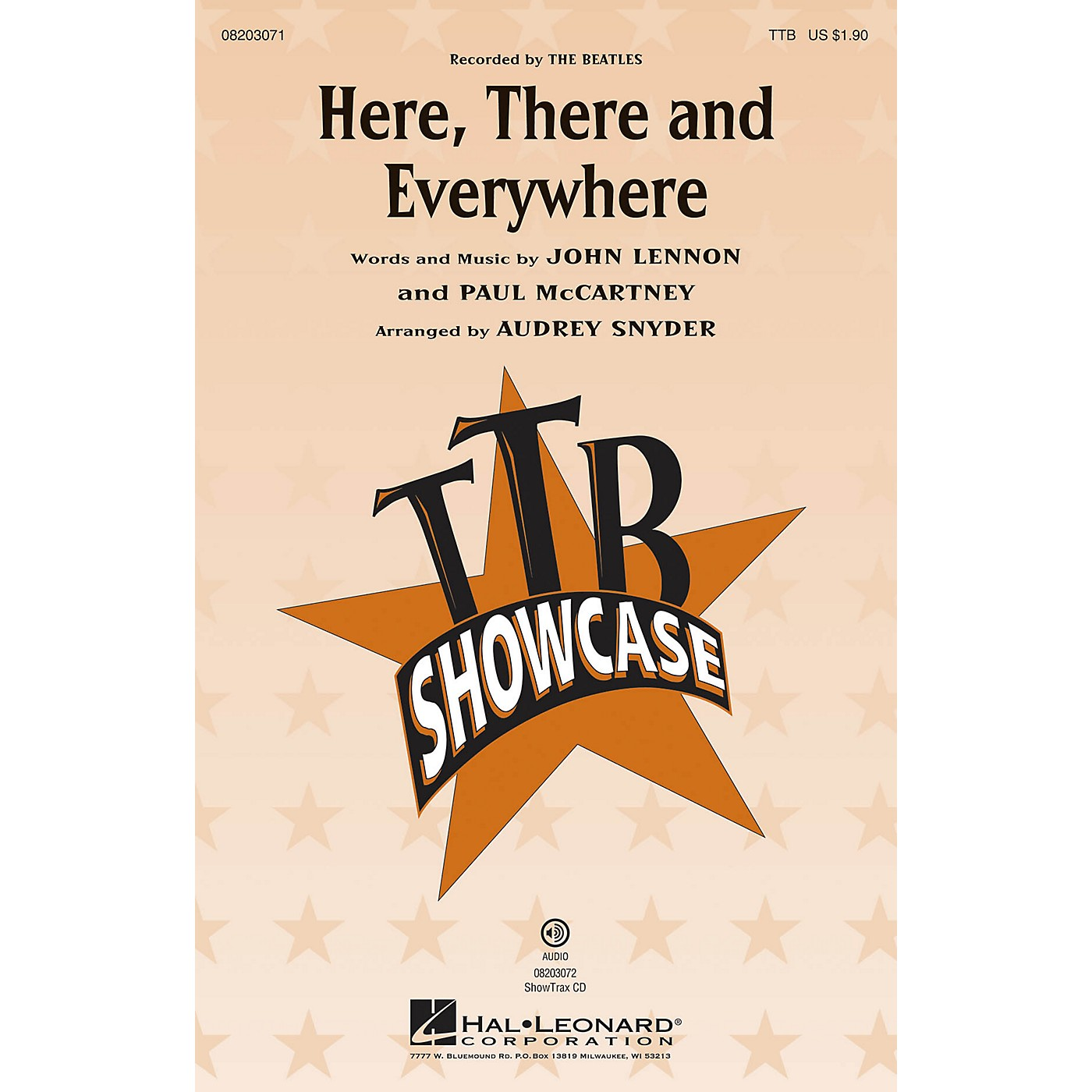 Hal Leonard Here, There and Everywhere ShowTrax CD by The Beatles Arranged by Audrey Snyder thumbnail