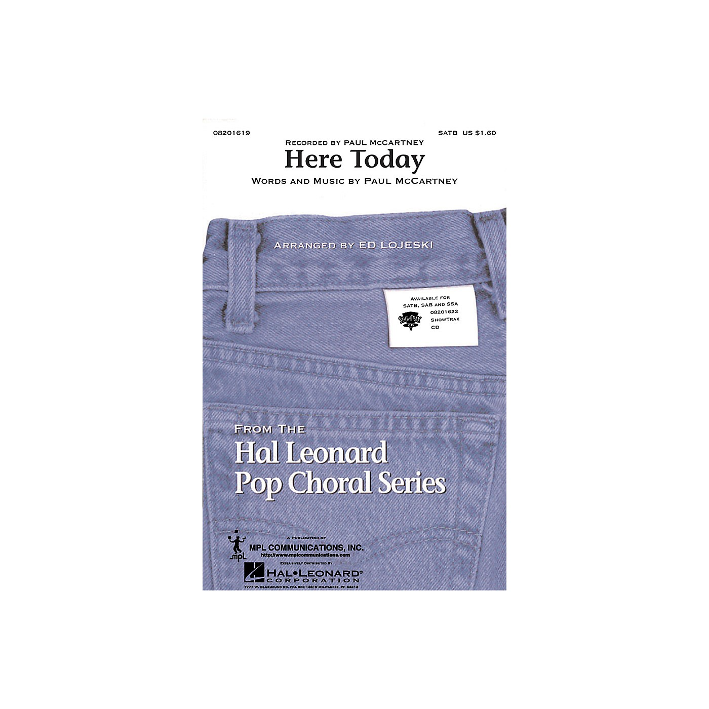 Hal Leonard Here Today ShowTrax CD by Paul McCartney Arranged by Ed Lojeski thumbnail
