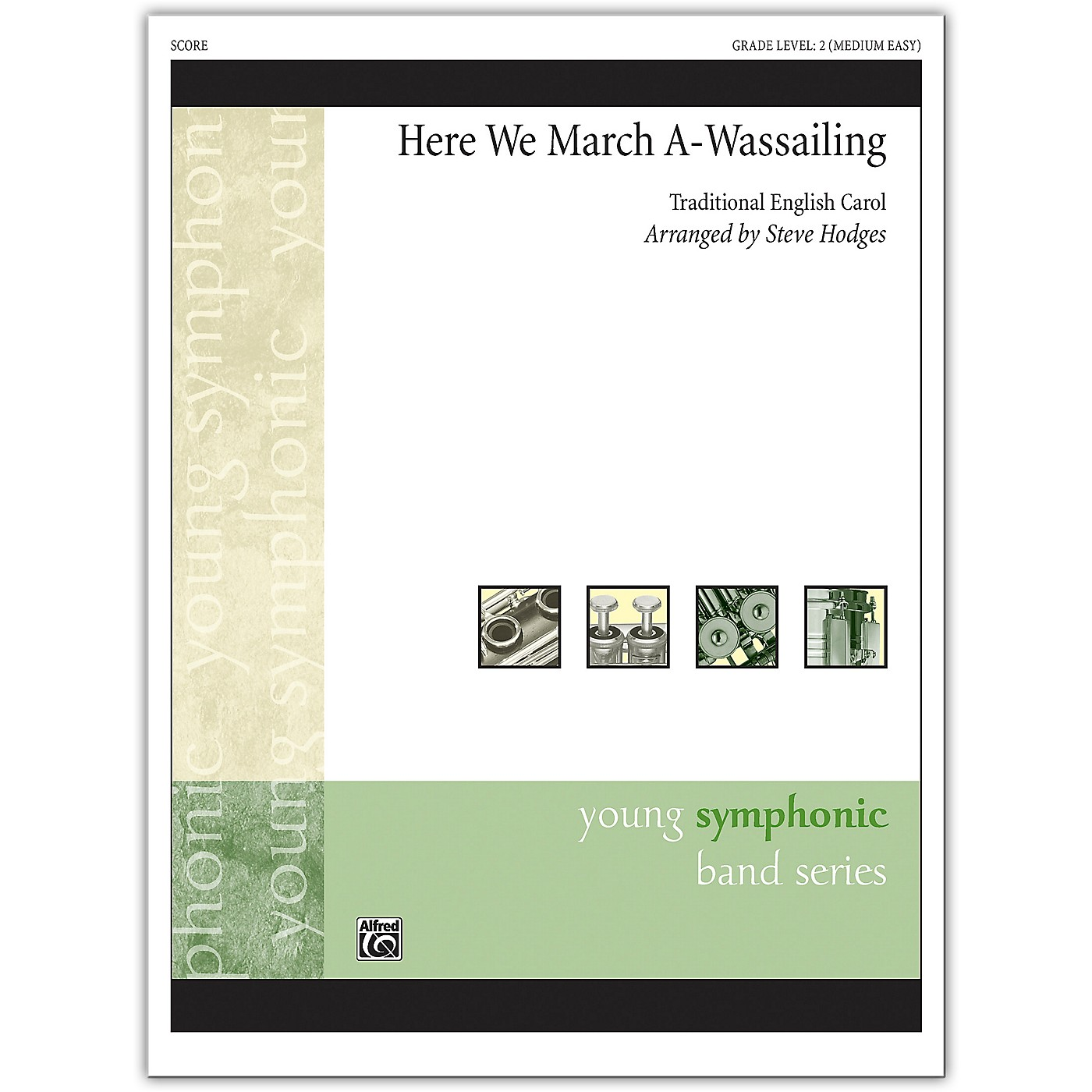 Alfred Here We March A-Wassailing Conductor Score 2 (Medium Easy) thumbnail