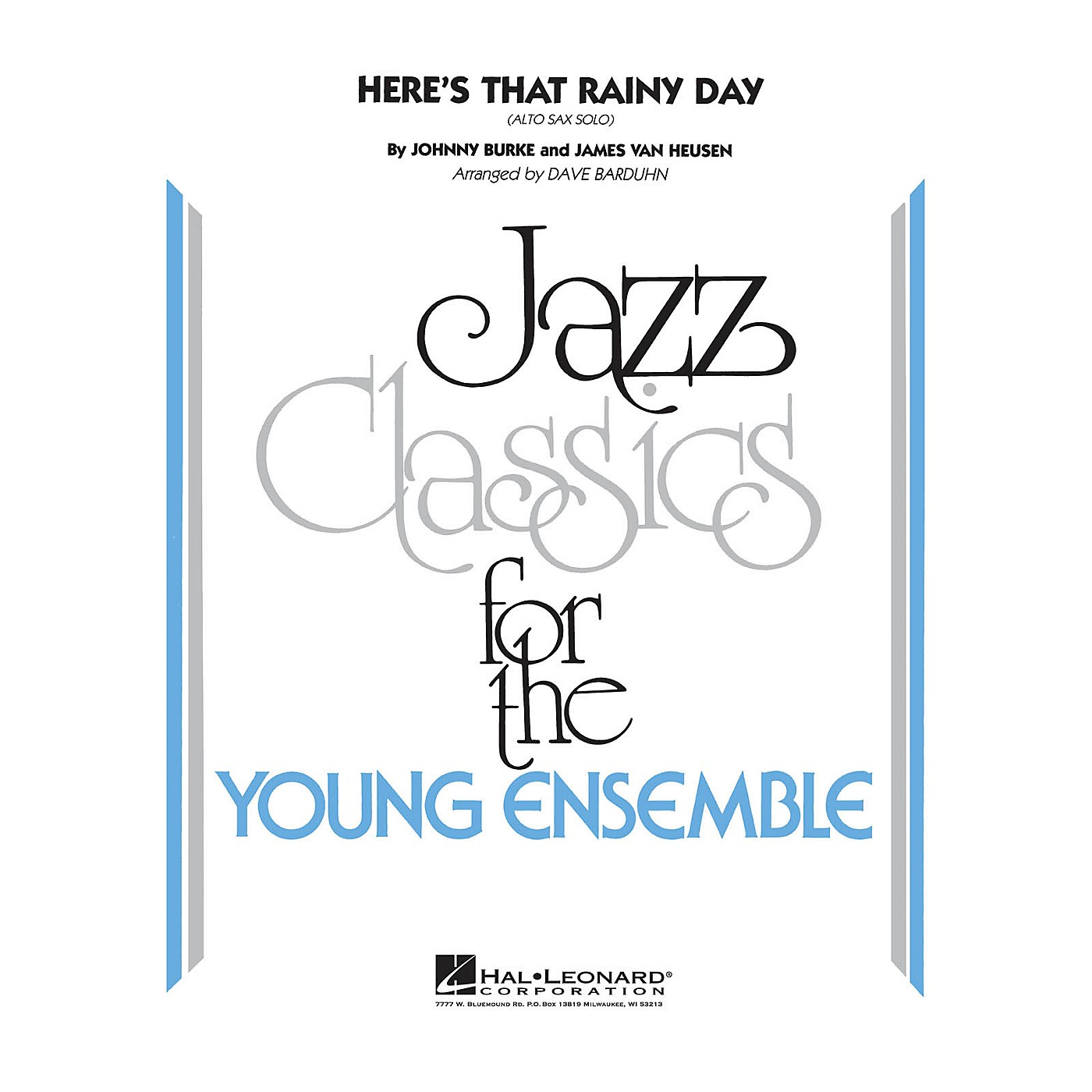 Hal Leonard Here's That Rainy Day Jazz Band Level 3 Arranged by Dave Barduhn thumbnail