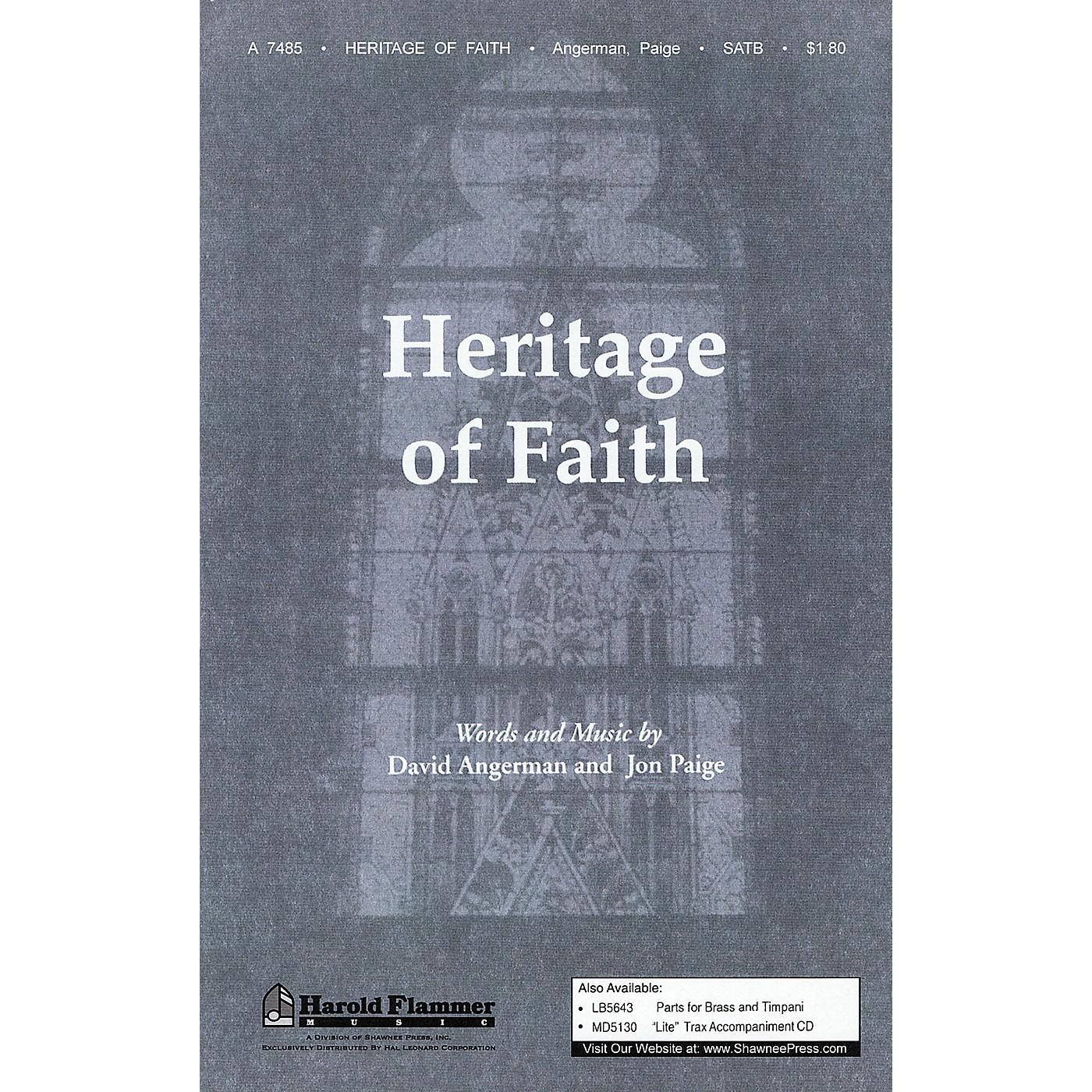 Shawnee Press Heritage of Faith SATB composed by David Angerman thumbnail
