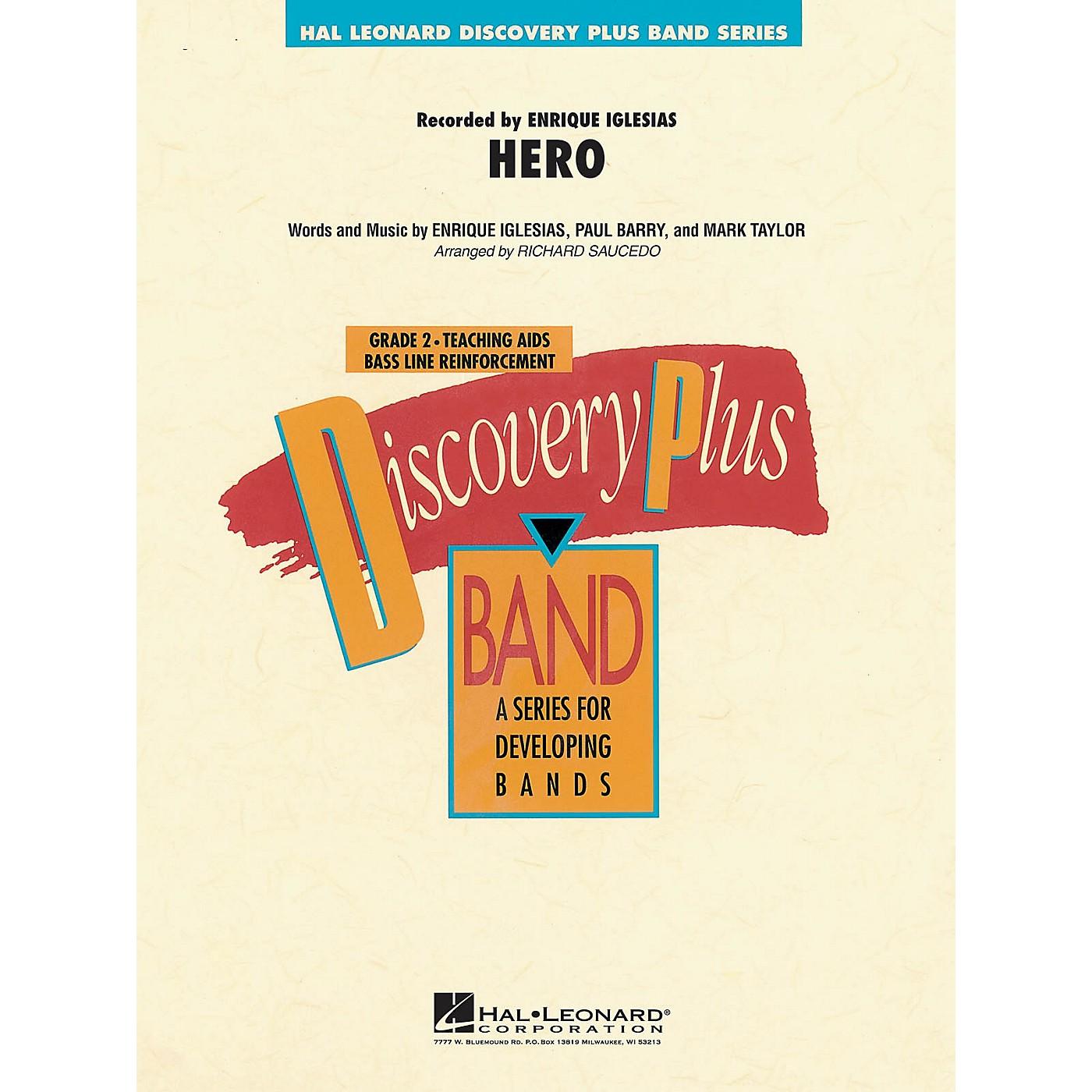 Hal Leonard Hero - Discovery Plus Concert Band Series Level 2 arranged by Richard Saucedo thumbnail