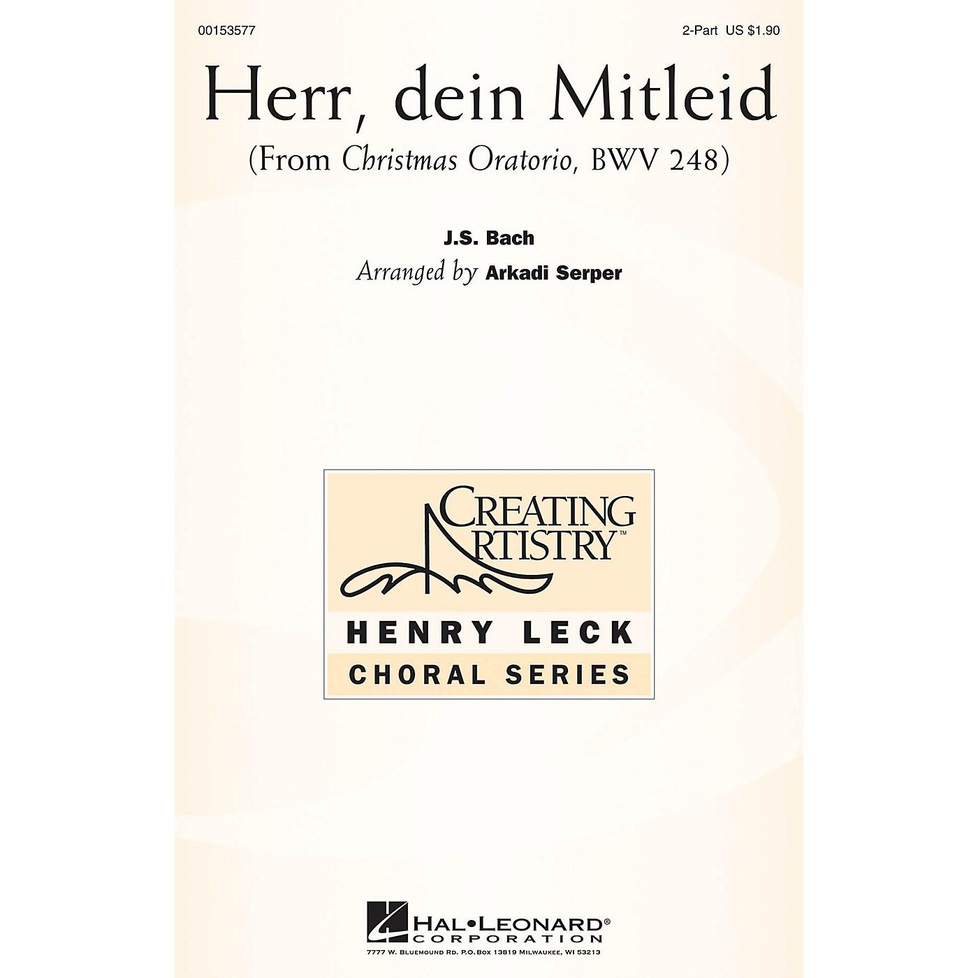 Hal Leonard Herr, dein Mitleid (from Christmas Oratorio) 2PT TREBLE arranged by Arkadi Serper thumbnail