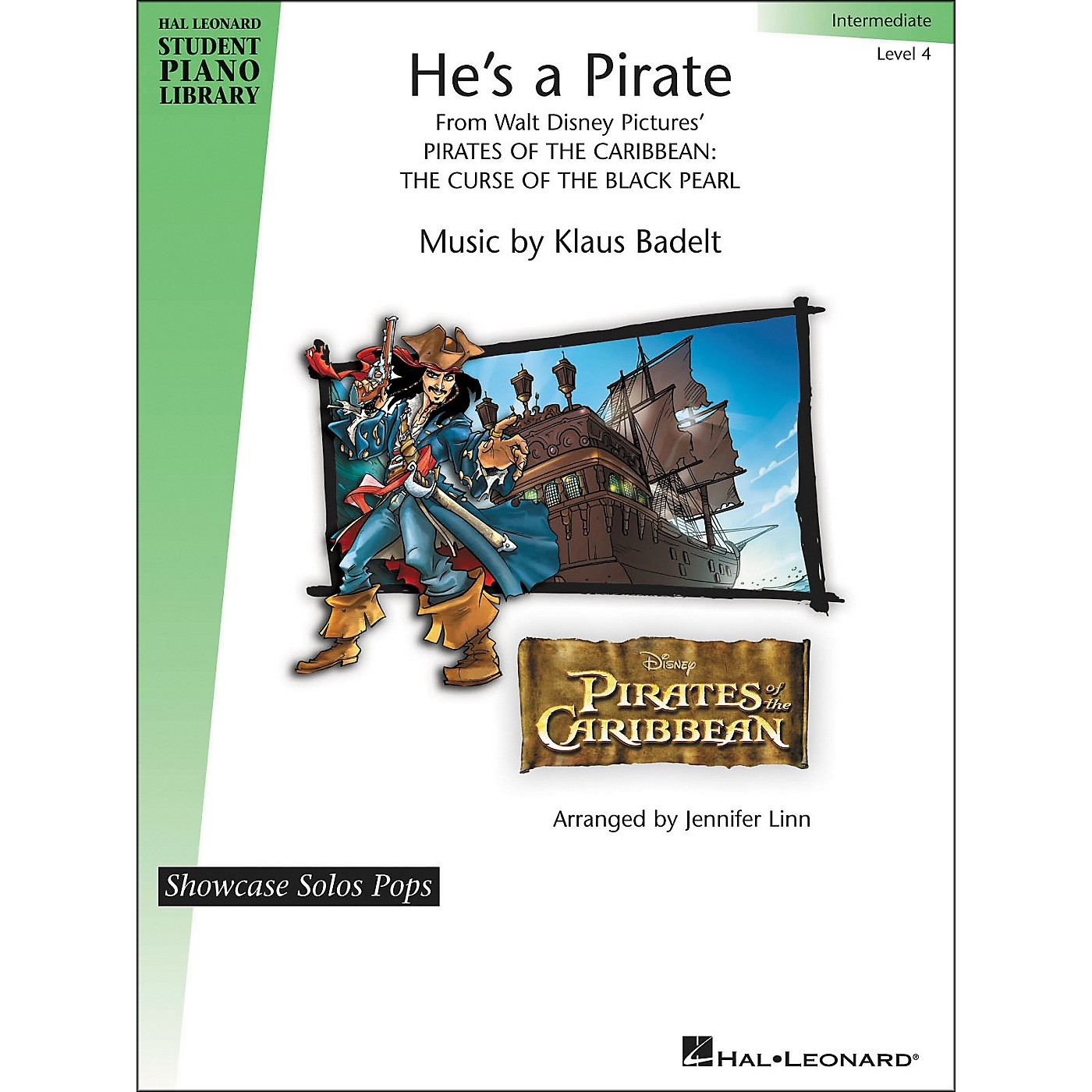 Hal Leonard He's A Pirate - Showcase Solo Pops Level 4 - Intermediate Hal Leonard Student Piano Library by Jennifer Linn thumbnail