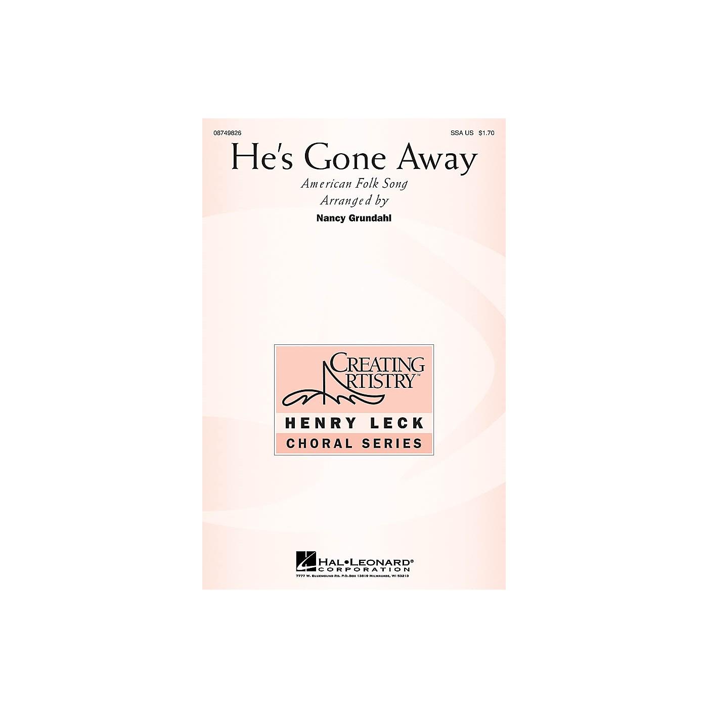 Hal Leonard He's Gone Away SSA arranged by Nancy Grundahl thumbnail