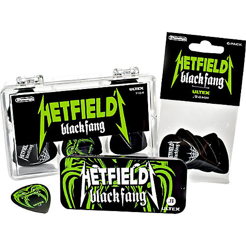 Dunlop Hetfield Black Fang Pick Tin - 6 Pack thumbnail