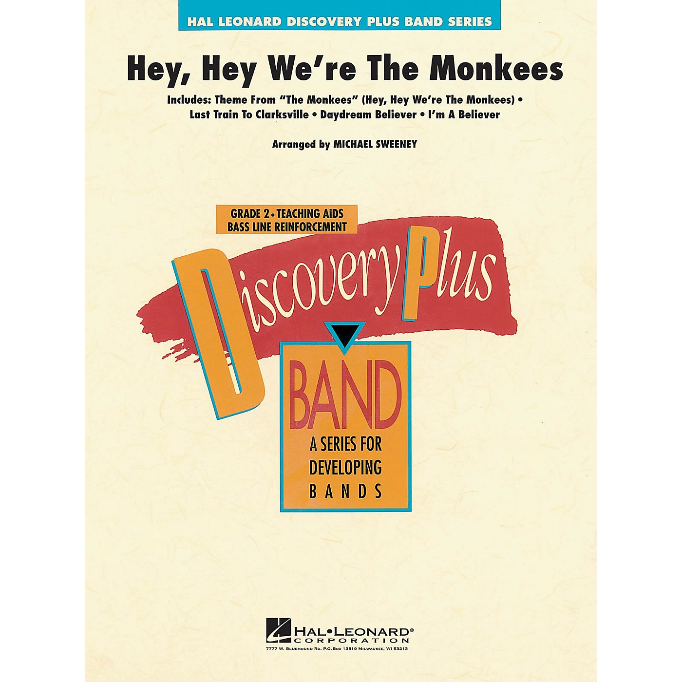 Hal Leonard Hey, Hey We're the Monkees - Discovery Plus Concert Band Series Level 2 arranged by Michael Sweeney thumbnail