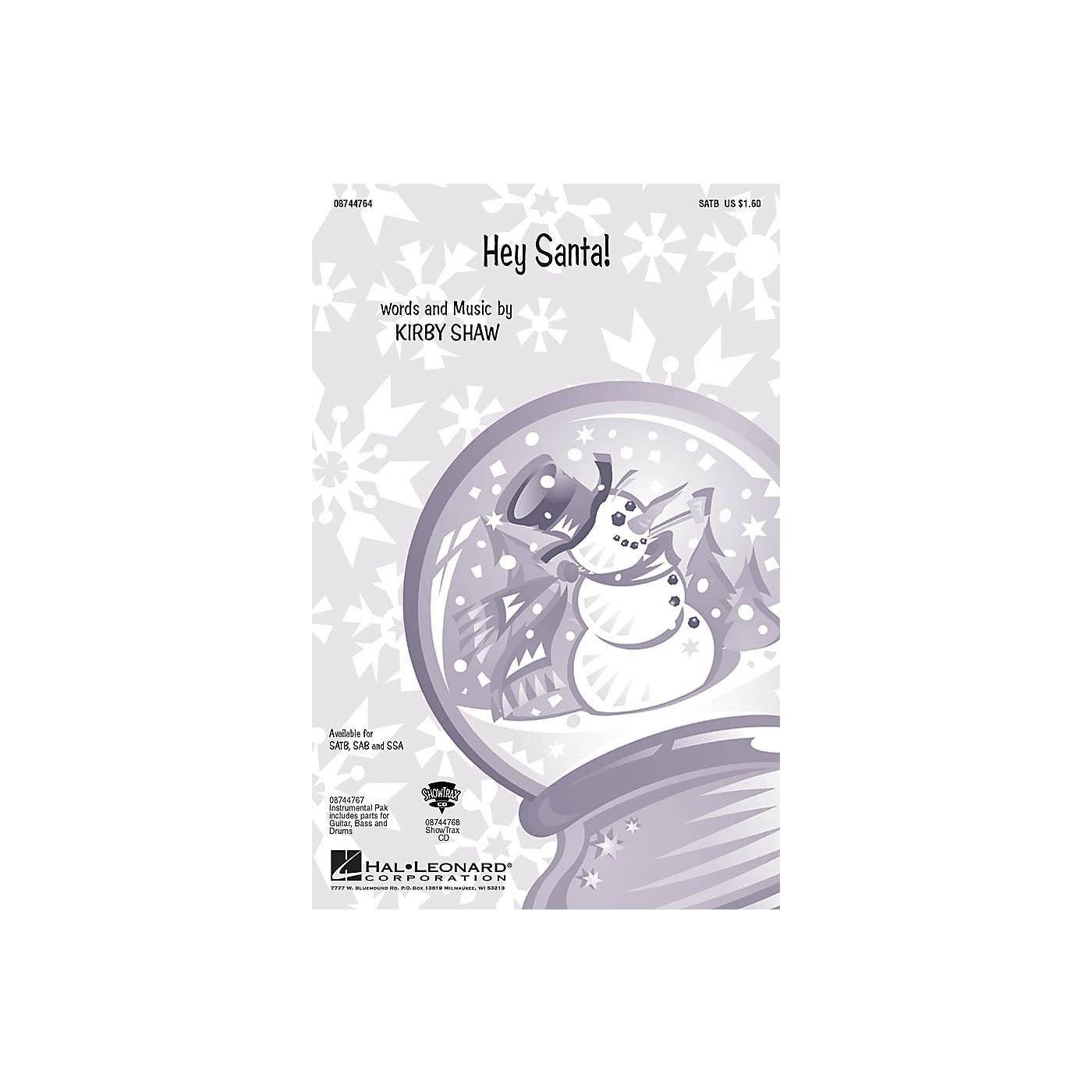 Hal Leonard Hey Santa! SSA Composed by Kirby Shaw thumbnail