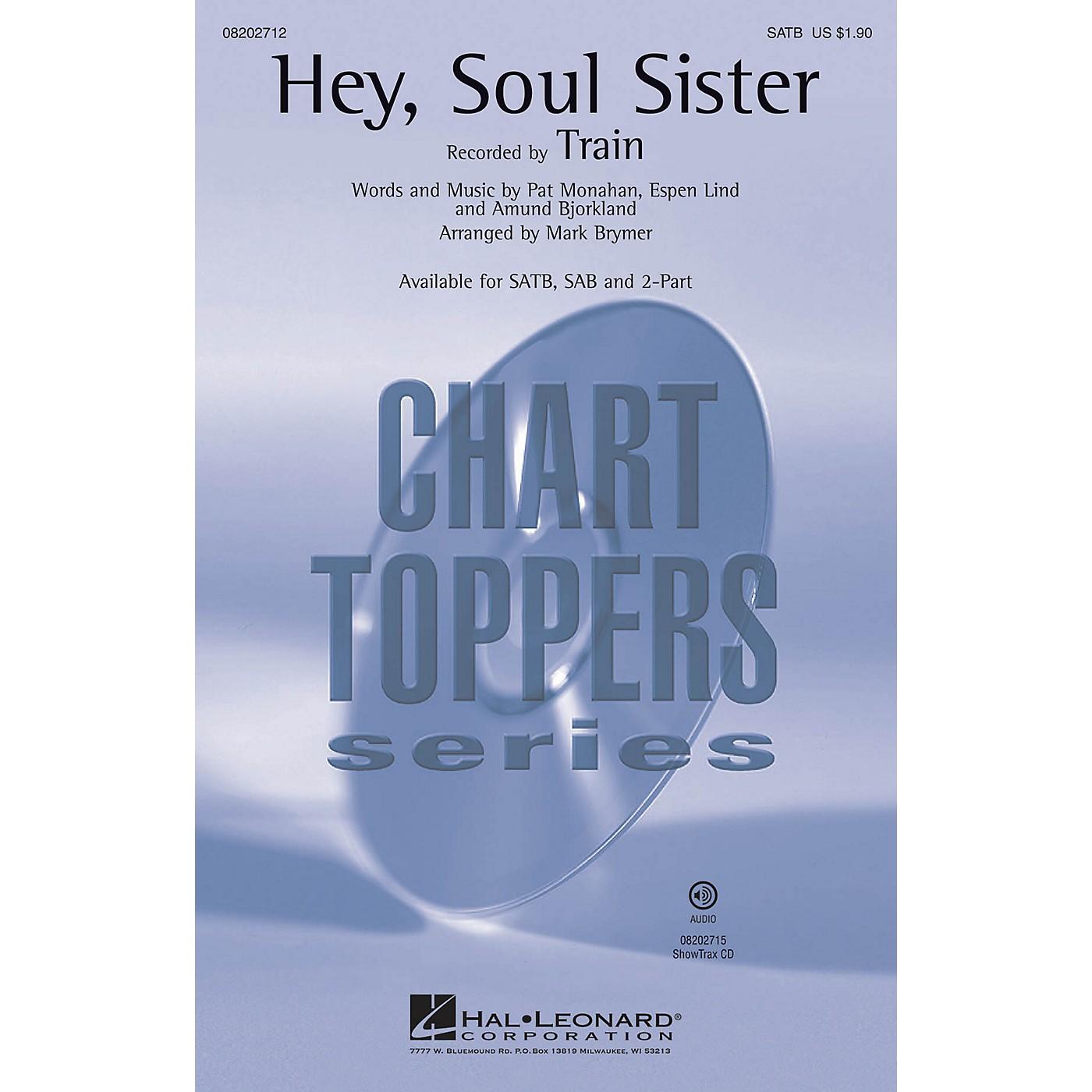 Hal Leonard Hey, Soul Sister 2-Part by Train Arranged by Mark Brymer thumbnail