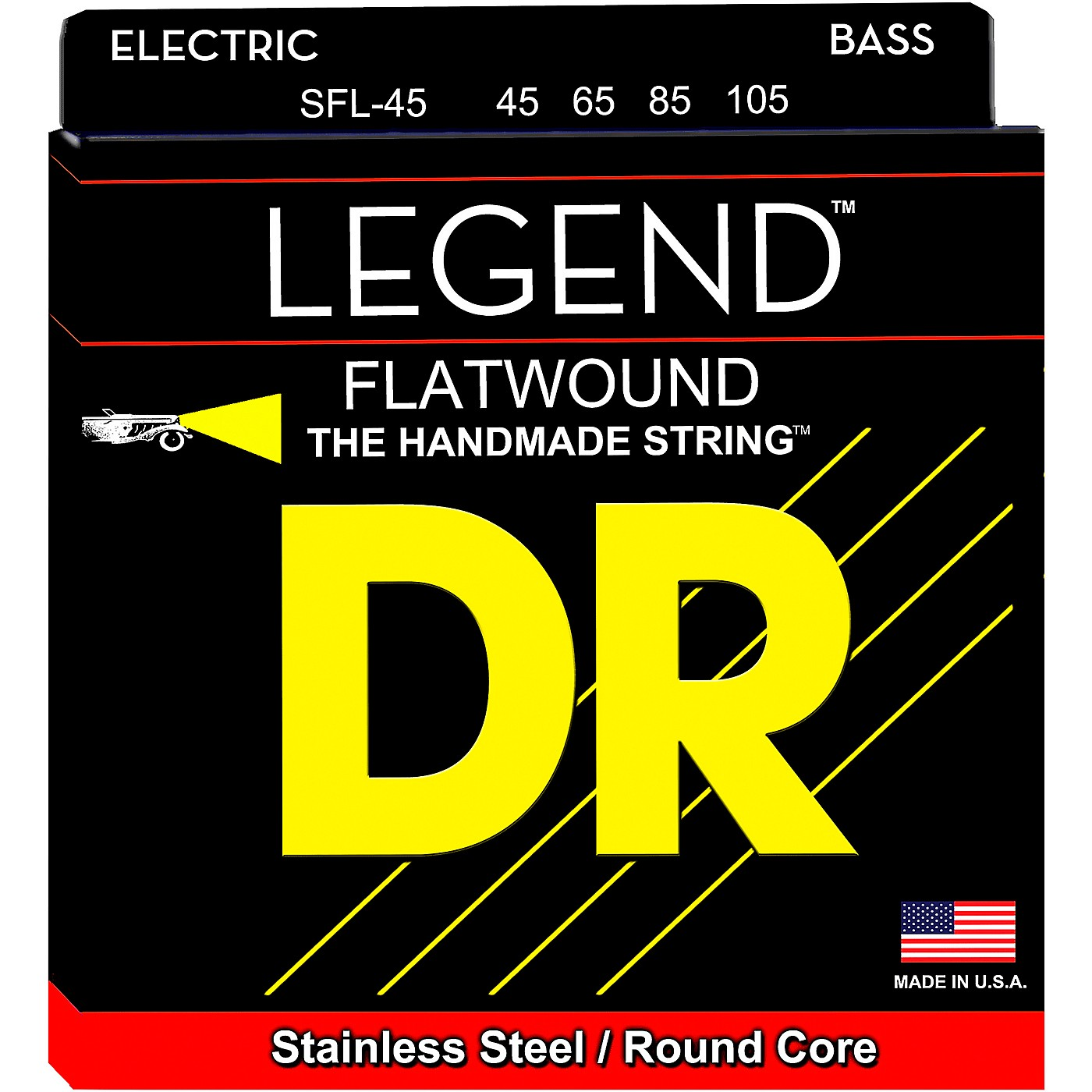 DR Strings Hi-BEAM FLATS Flatwound Stainless Steel Bass Strings Short Scale (45-105) thumbnail