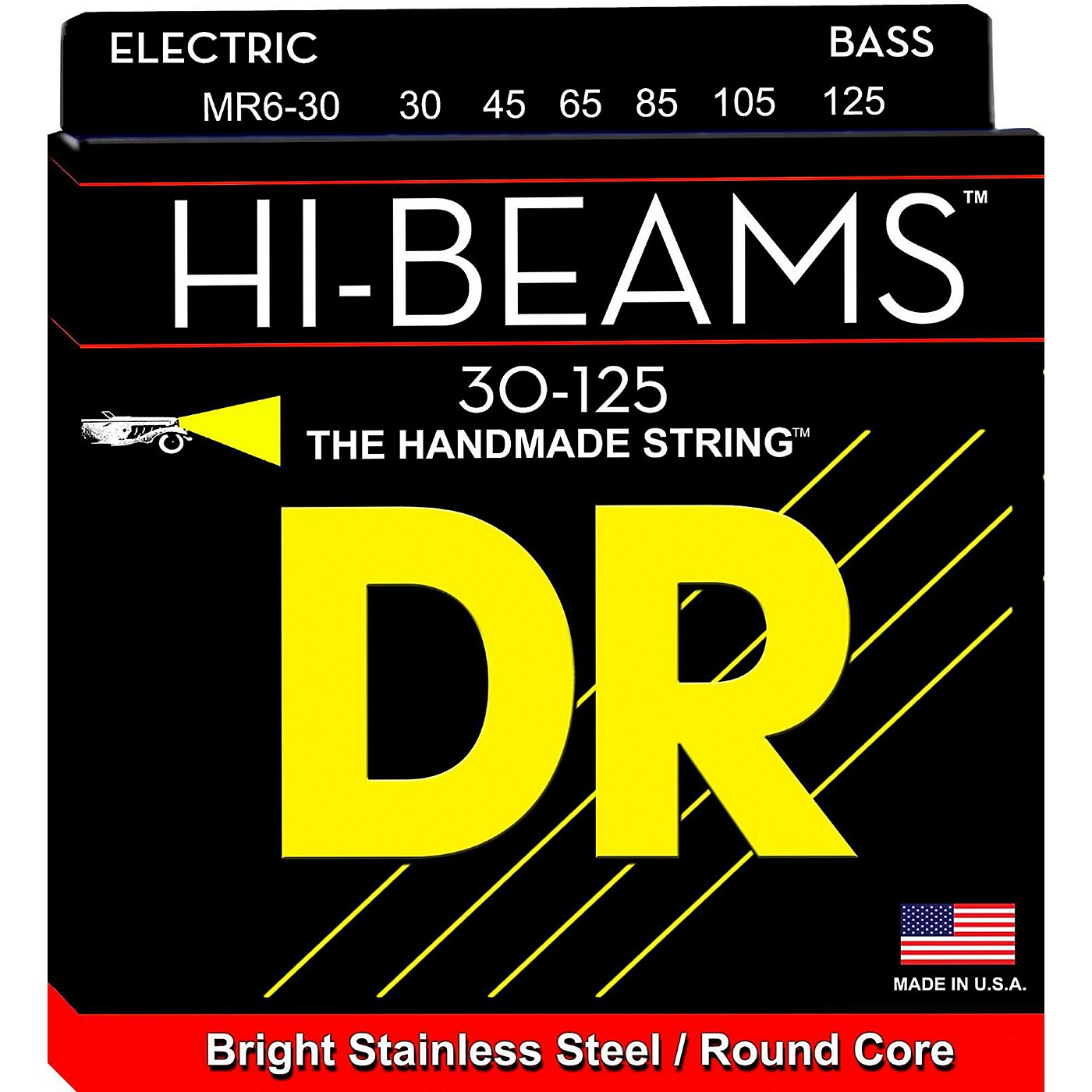 DR Strings Hi-Beam 6 String Bass Medium .125 Low B thumbnail