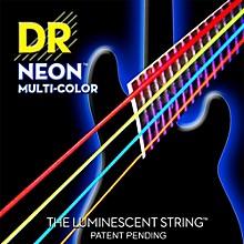 DR Strings Hi-Def NEON Multi-Color Coated Medium 6-String Bass Strings