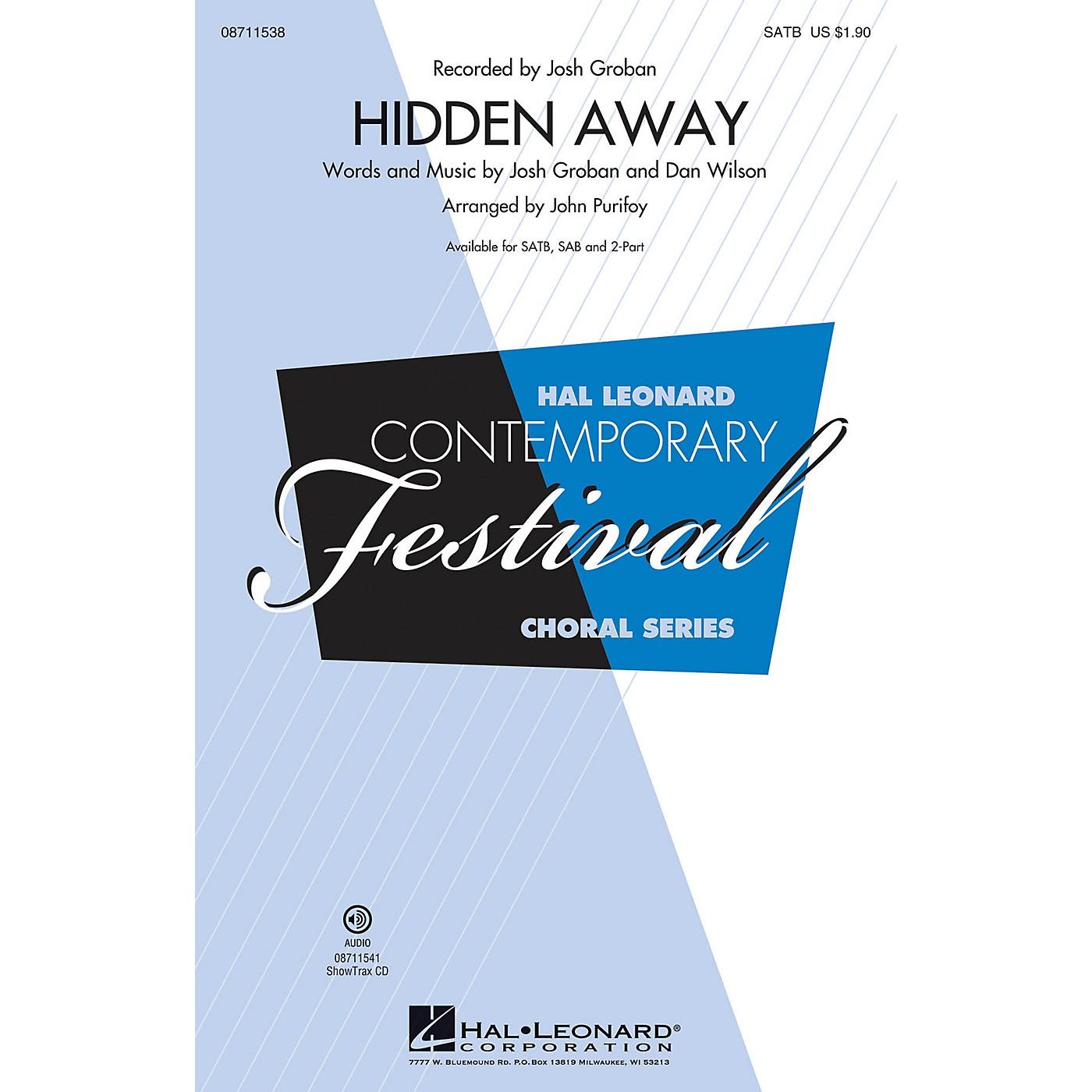 Hal Leonard Hidden Away SATB by Josh Groban arranged by John Purifoy thumbnail