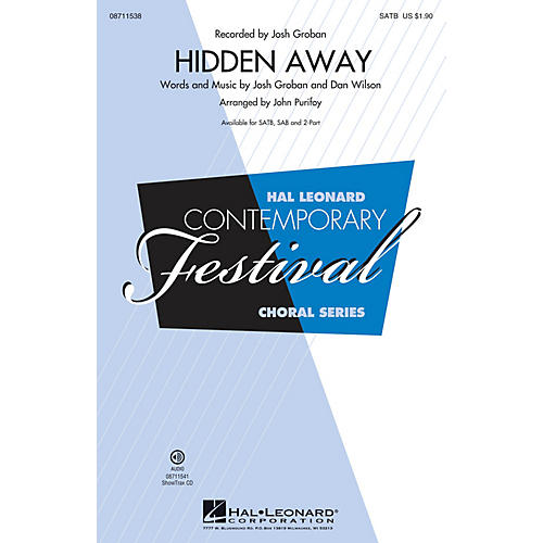 Hal Leonard Hidden Away SATB by Josh Groban arranged by John Purifoy thumbnail