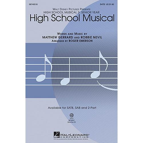 Hal Leonard High School Musical (from High School Musical 3) 2-Part Arranged by Roger Emerson thumbnail
