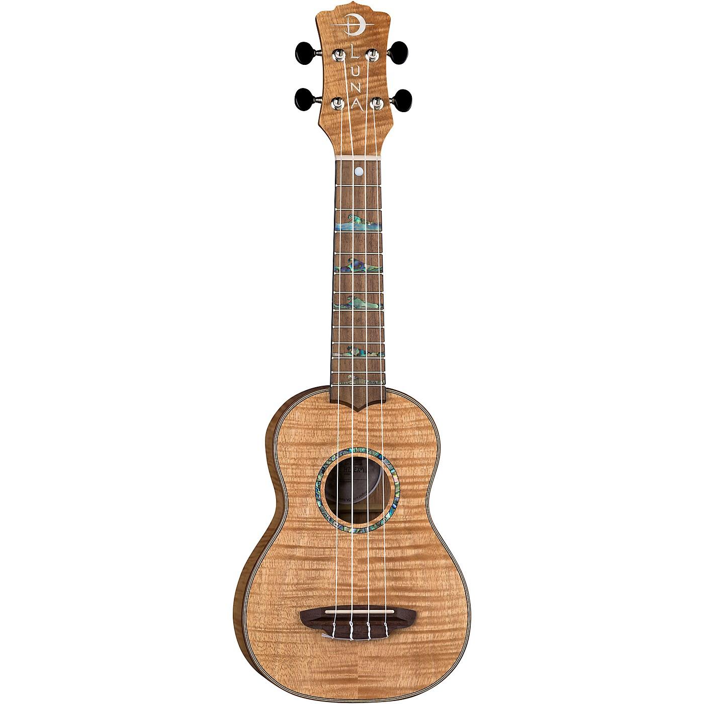 Luna Guitars High Tide Exotic Mahogany Soprano Ukulele thumbnail