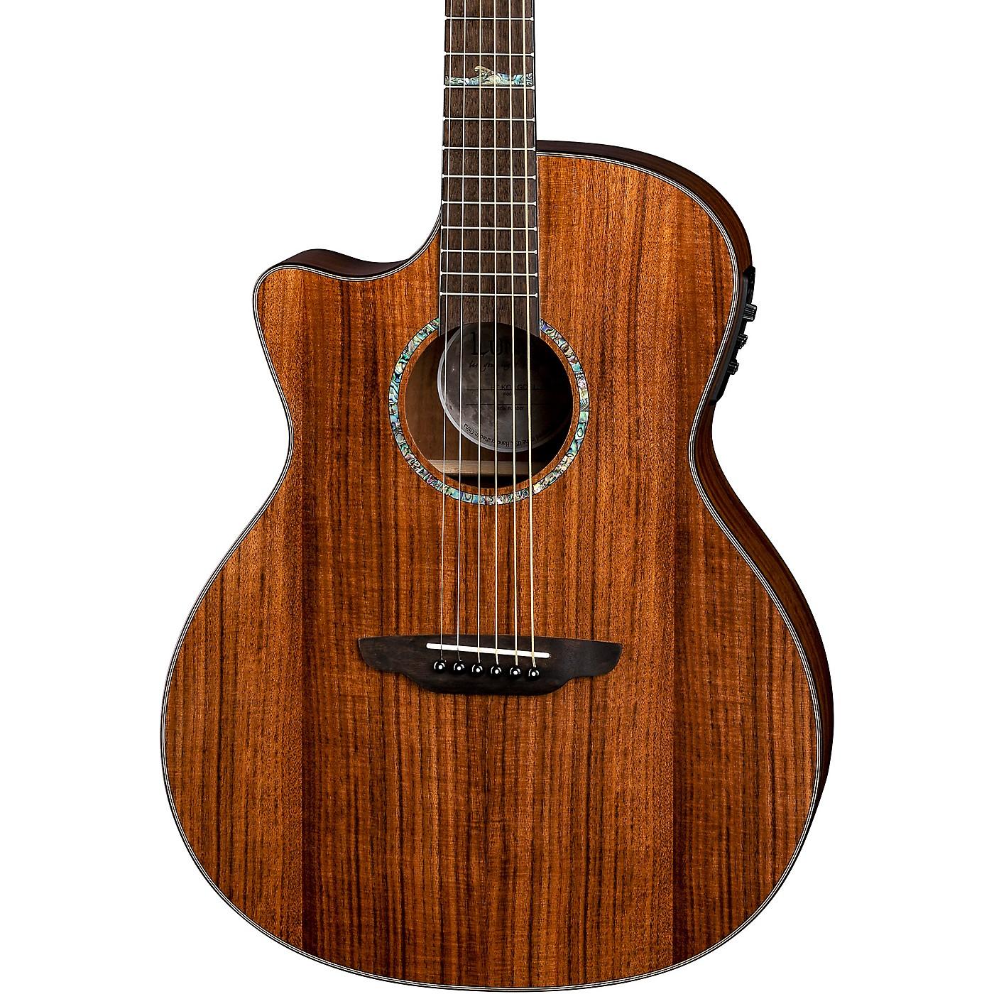Luna Guitars High Tide Koa Left-Handed Grand Concert Acoustic/Electric Guitar thumbnail