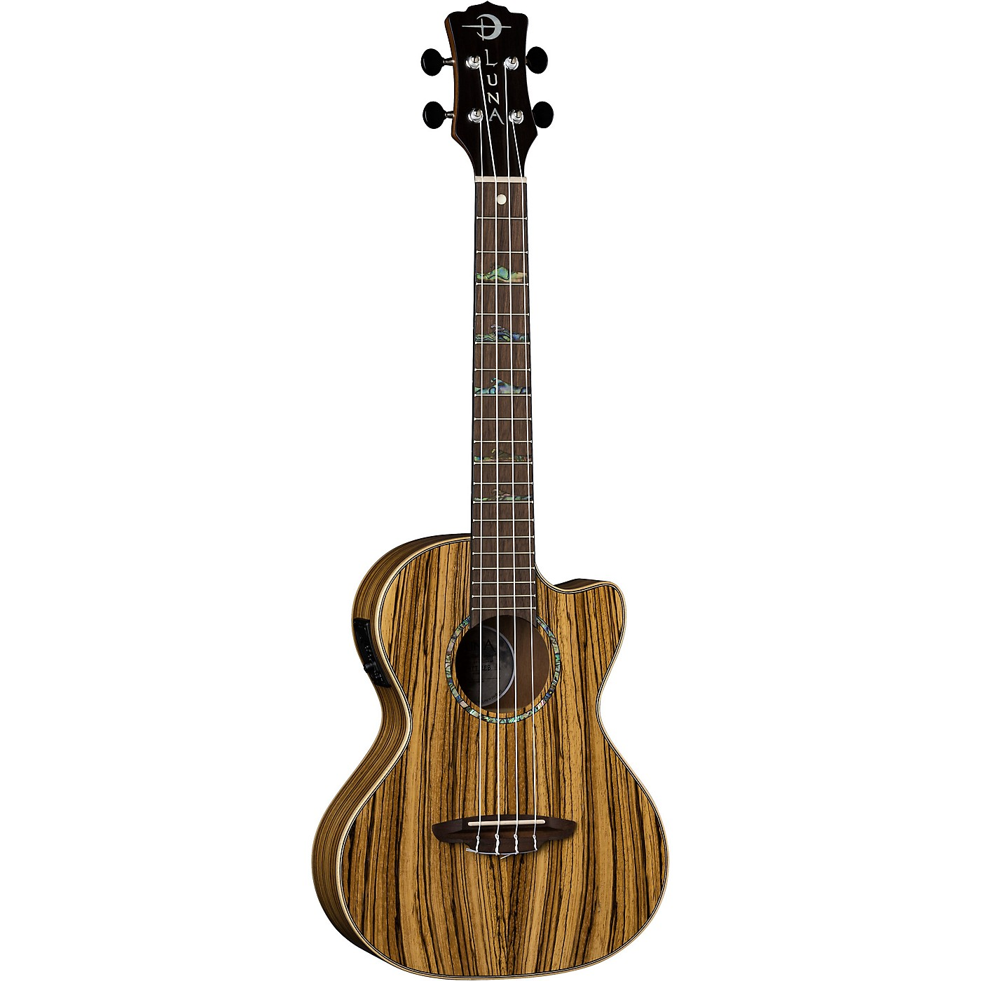 Luna Guitars High Tide Zebra Wood Acoustic-Electric Tenor Ukulele thumbnail