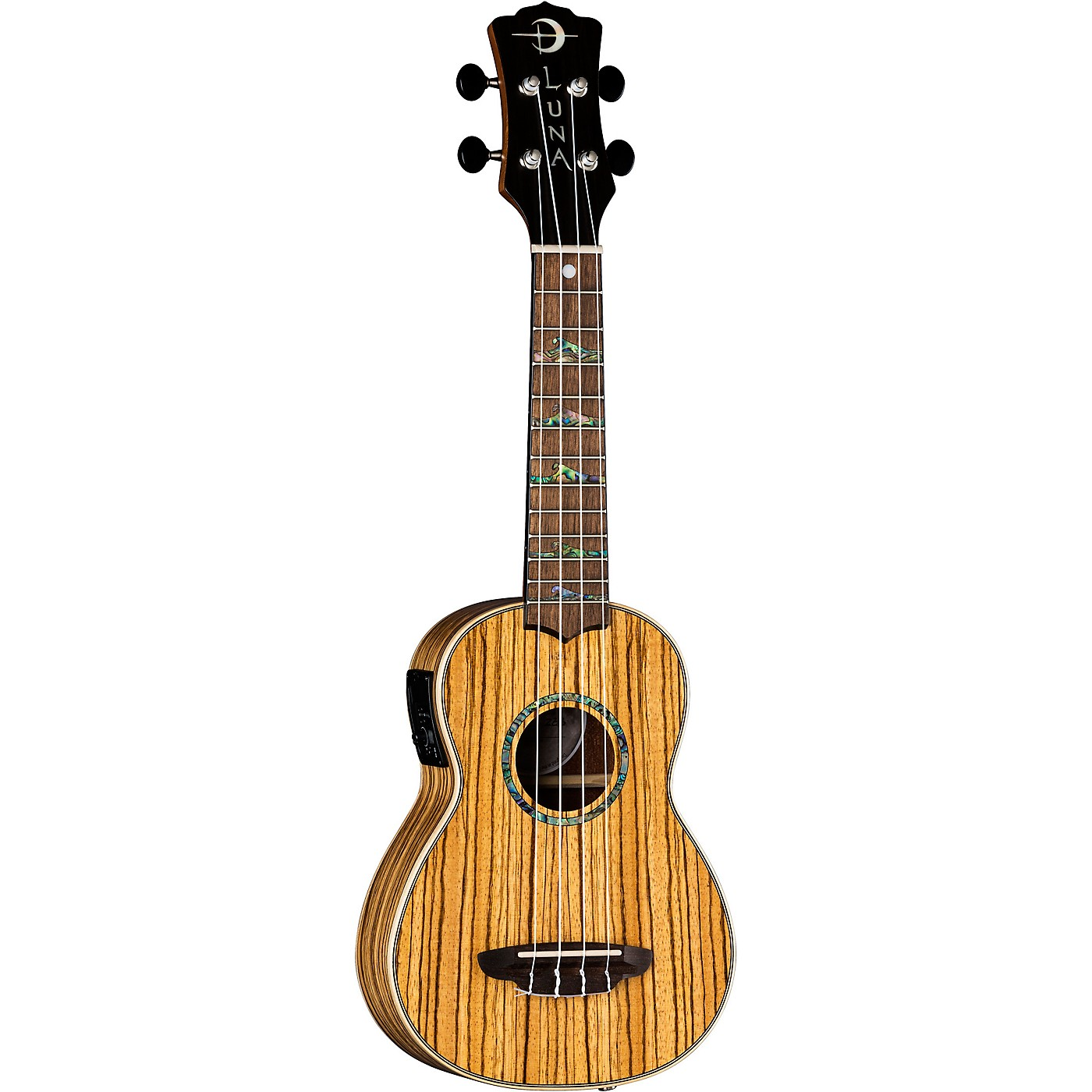 Luna Guitars High Tide Zebrawood Acoustic-Electric Ukulele thumbnail
