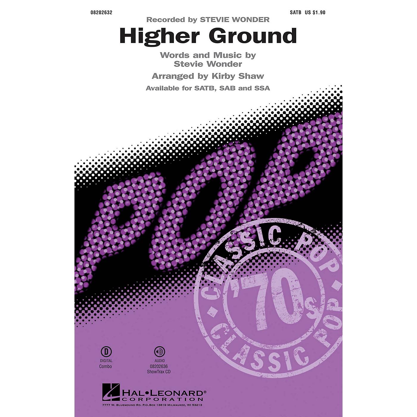 Hal Leonard Higher Ground SAB by Stevie Wonder Arranged by Kirby Shaw thumbnail