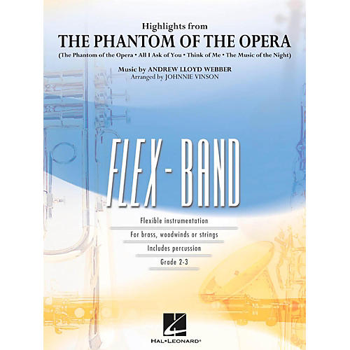 Hal Leonard Highlights From The Phantom Of The Opera - FlexBand Level 2 - 3 thumbnail