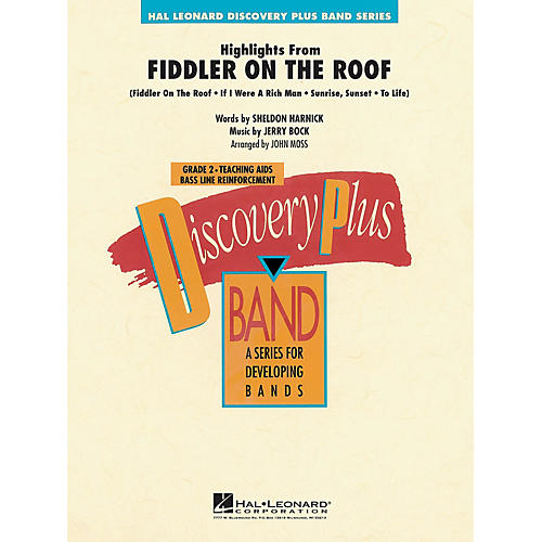 Hal Leonard Highlights from Fiddler on the Roof - Discovery Plus Concert Band Series Level 2 arranged by John Moss thumbnail