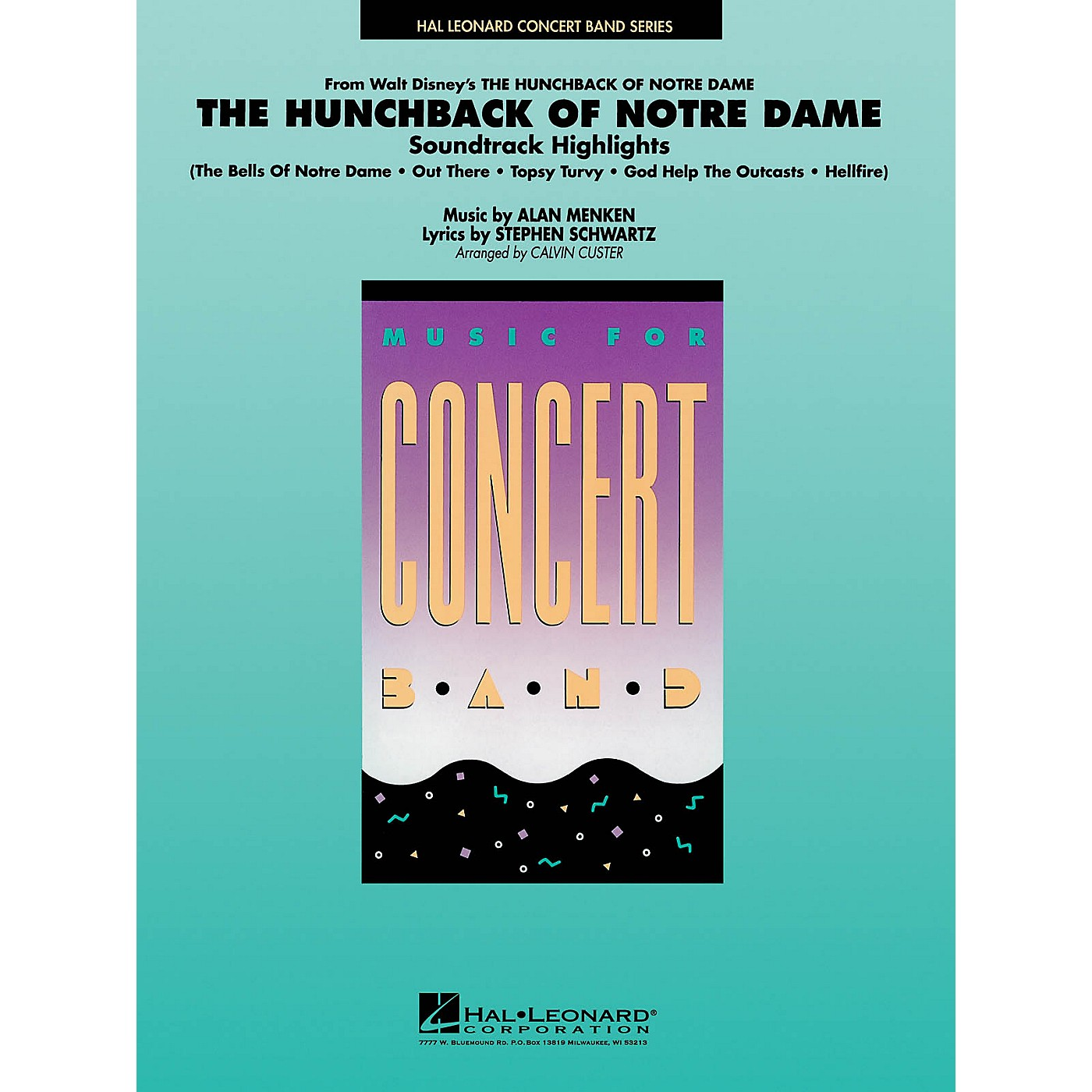 Hal Leonard Highlights from Hunchback of Notre Dame Concert Band Level 4 Arranged by Calvin Custer thumbnail