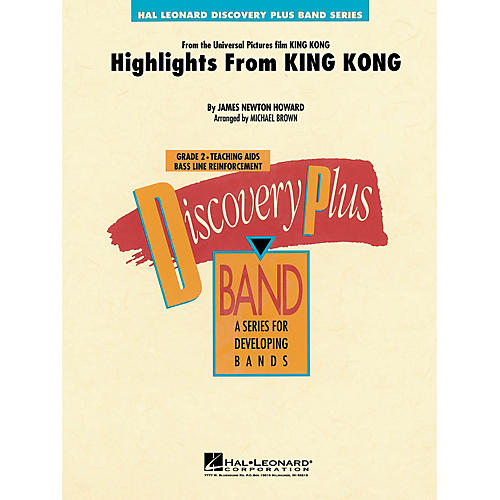 Hal Leonard Highlights from King Kong - Discovery Plus Concert Band Series Level 2 arranged by Michael Brown thumbnail