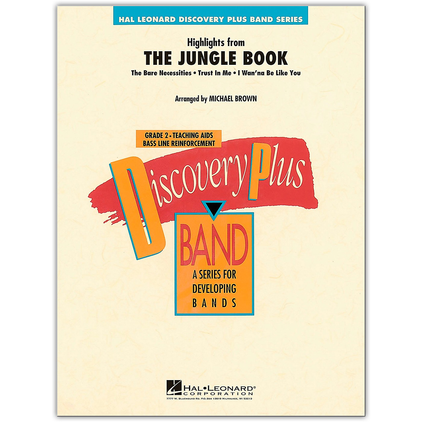 Hal Leonard Highlights from The Jungle Book - Discovery Plus Concert Band Series Level 2 arranged by Michael Brown thumbnail