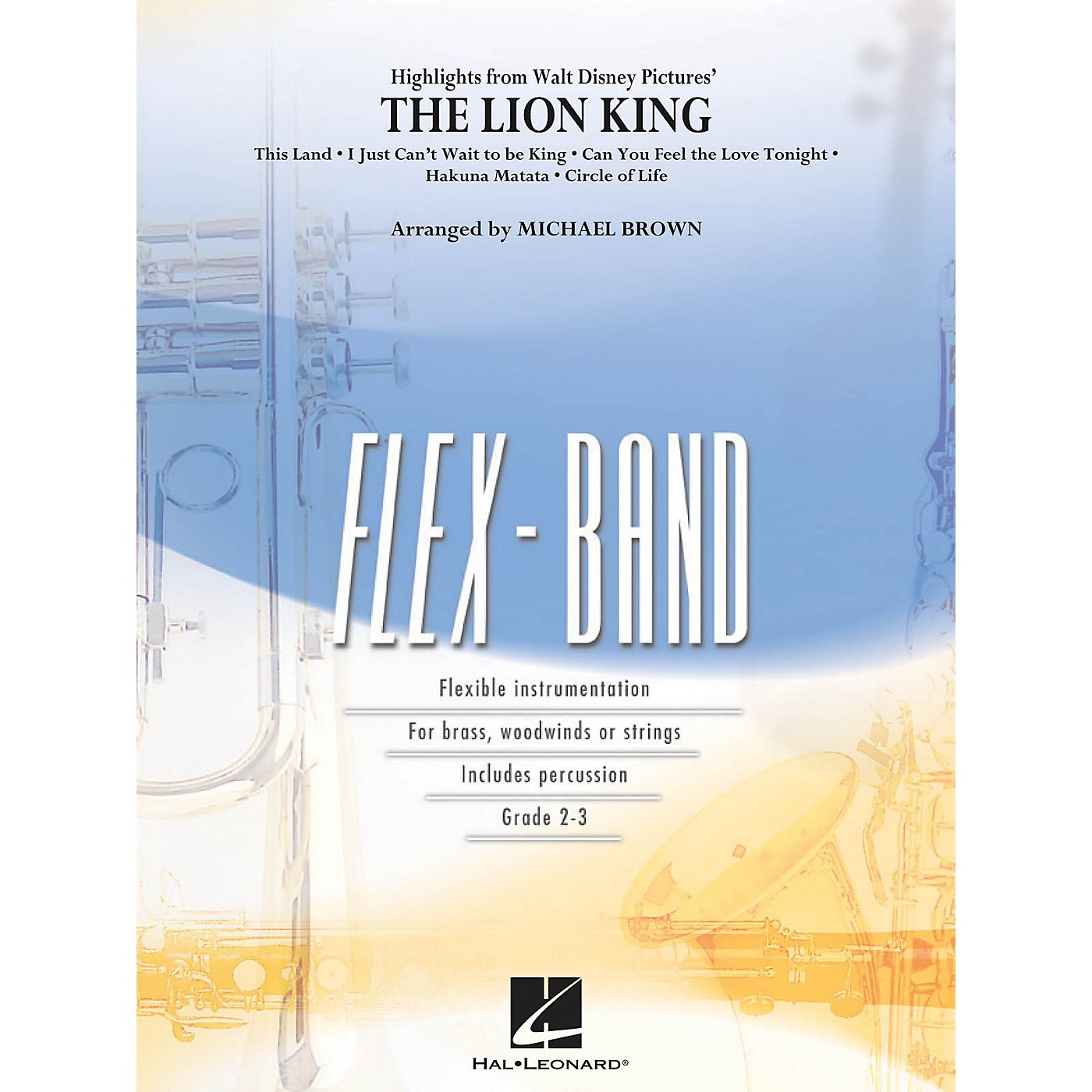 Hal Leonard Highlights from The Lion King Concert Band Level 2-3 Arranged by Michael Brown thumbnail