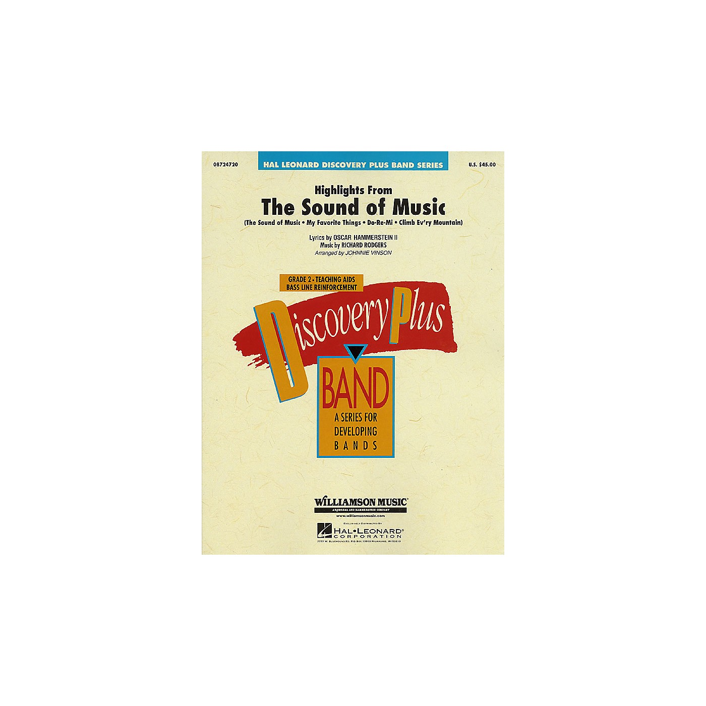 Hal Leonard Highlights from The Sound of Music - Discovery Plus Concert Band Series Level 2 arranged by Vinson thumbnail