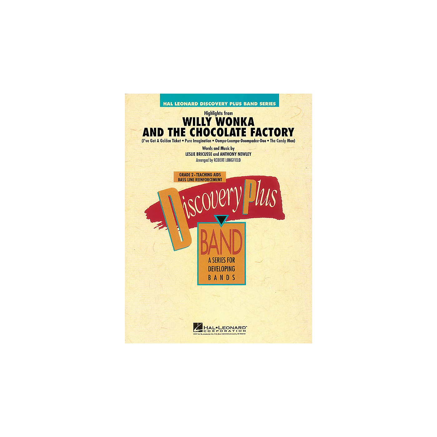 Hal Leonard Highlights from Willy Wonka & The Chocolate Factory - Discovery Plus Band Level 2 by Robert Longfield thumbnail